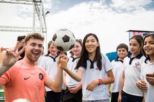 Fussball Show in Doha für die FIFA